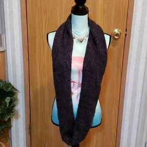 Beautiful Gray Knit Infinity Scarf